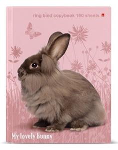 """Тетрадь 160л.кл.на кольц.АЛЬТ, """"Милый кролик"""", с 1-м сменным блоком купить оптом и в розницу"""