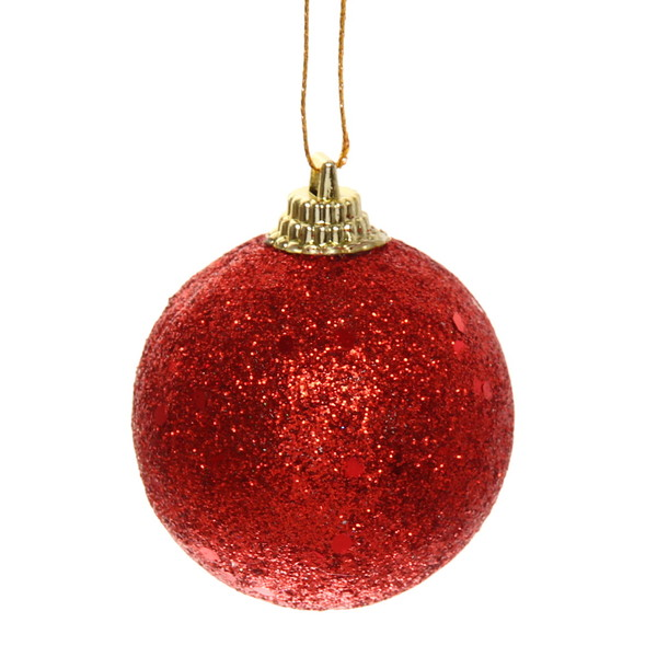 Новогодние шары ″Рубин″ 6см (набор 6шт.). купить оптом и в розницу