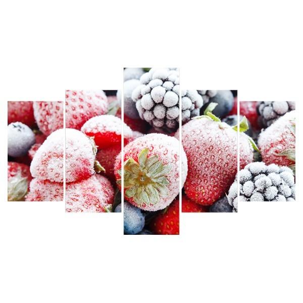 Картина модульная полиптих 75*130 см, замороженные ягоды купить оптом и в розницу