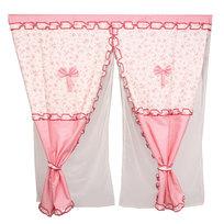 Шторы Прованс 150*150см 2шторы+тюль розочки розовые купить оптом и в розницу