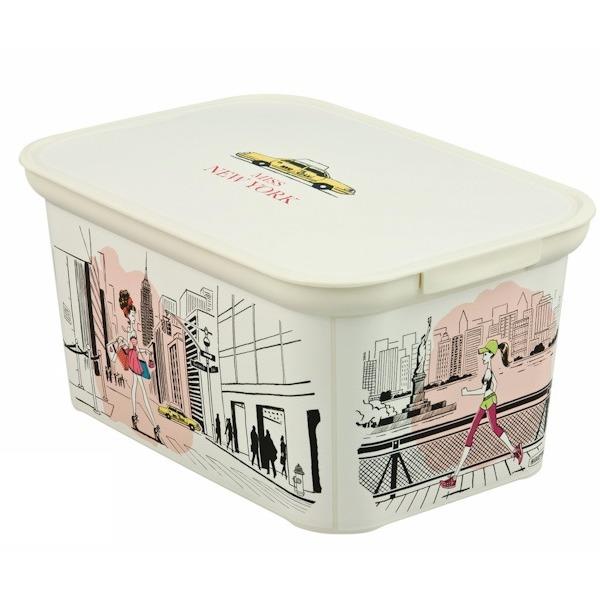 Коробка декоративная  L AMSTERDAM Нью-Йорк /5 шт (40х30х24)см Curver купить оптом и в розницу