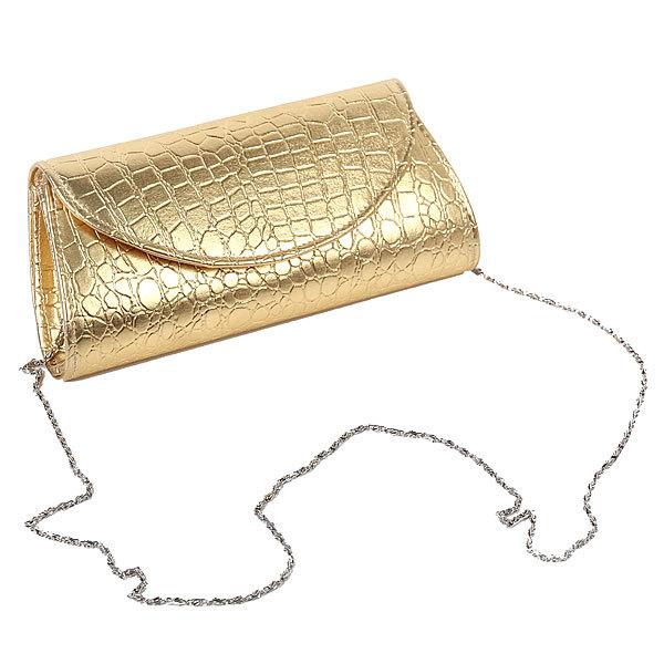 Клатч женский с цепочкой ″Золотой шик″, микс 2 цвета 23*12*5 купить оптом и в розницу