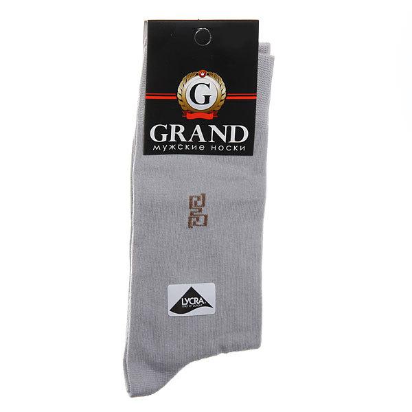 Носки мужские GRAND, рисунок на паголенке, цвет темно-серый р. 25 купить оптом и в розницу