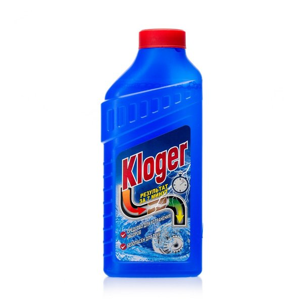 Средство-гель чистящее для устранения засоров Kloger Turbо 500мл купить оптом и в розницу
