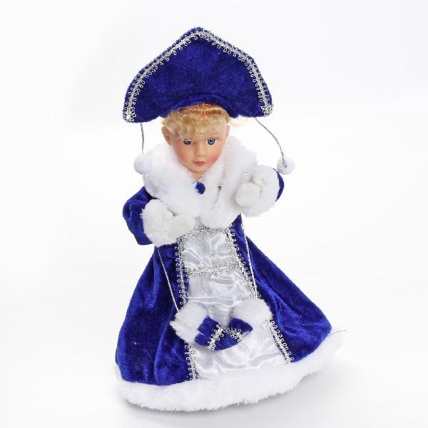 Снегурочка музыкальная 30см в кокошнике купить оптом и в розницу