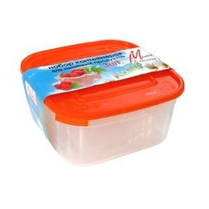 Набор контейнеров для пищ. продуктов (0,8л; 1,2л; 1,6л) 1/20 купить оптом и в розницу