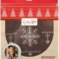 Скатерть 85*85см ″Скандинавия″ шоколадная с вышивкой купить оптом и в розницу