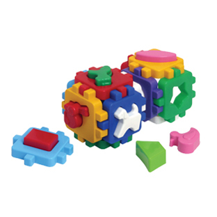 Логич.игрушка Куб Умный малыш-Веселая компания 1950 /интелком/ купить оптом и в розницу