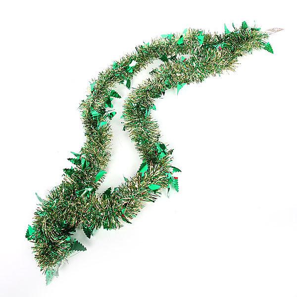Мишура новогодняя 2 метра 6см ″Елочки″ зеленый купить оптом и в розницу