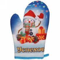 Прихватка-варежка ″Успехов!″, Снеговичок купить оптом и в розницу