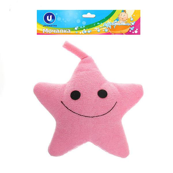 Мочалка для тела детская текстильная ″Звезда″ d-17см купить оптом и в розницу