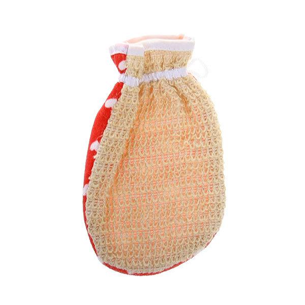 Мочалка-варежка скрабирующая ″Банька - сердечки″ 20*14см купить оптом и в розницу