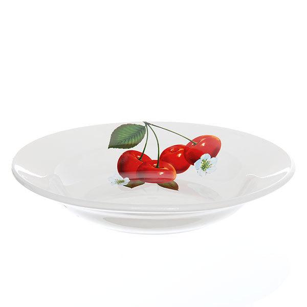 Тарелка керамическая 20 см глубокая Вишенка СК_055 Д купить оптом и в розницу