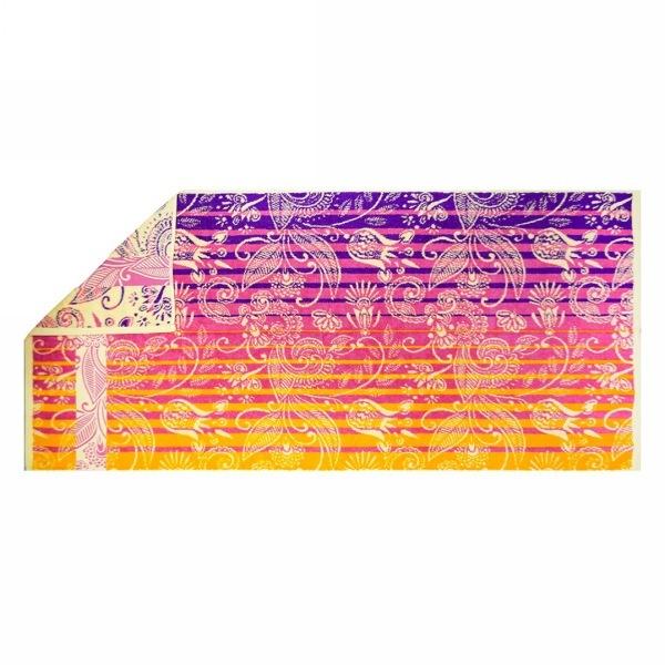 Махровое полотенце 70*140см золотой закат пестротканное пляжное ЖК140-4-108-087 купить оптом и в розницу