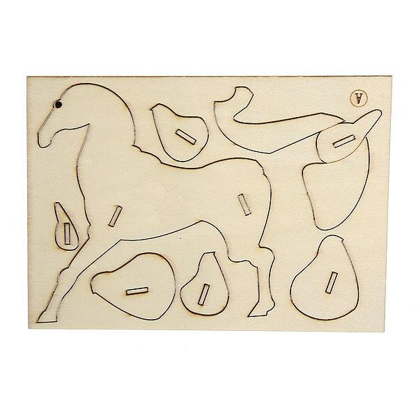 3D Пазлы деревянные Лошадь (18дет.) купить оптом и в розницу