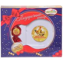Набор магнит и елочная игрушка-конфетка ″Счастья в Новом году!″, Куриное семейство купить оптом и в розницу