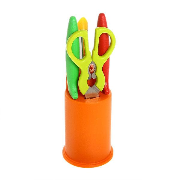 Набор ножей мини 2шт+ножницы+овощечистка в подставке CXT-LF042-5С купить оптом и в розницу