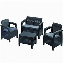 Комплект садовой мебели (2ух местный диван +2 кресла+ столик )  Yalta Set  Цвет венге купить оптом и в розницу
