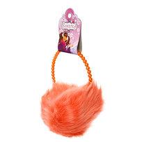 Наушники меховые, жемчужный ободок, цвет персиковый купить оптом и в розницу