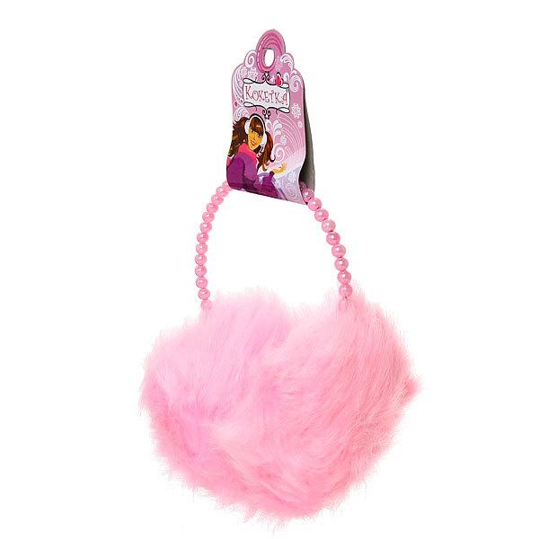 Наушники меховые, жемчужный ободок, цвет нежно-розовый купить оптом и в розницу