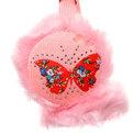 Наушники меховые ″Стразинки″ нежно-розовый цв. 760-1 купить оптом и в розницу