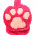 Наушники меховые, однотонные, ободок с ворсом, цвет розовый купить оптом и в розницу