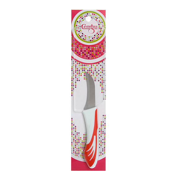 Нож кухонный ″Радуга″ овощной 6,5см Селфи купить оптом и в розницу