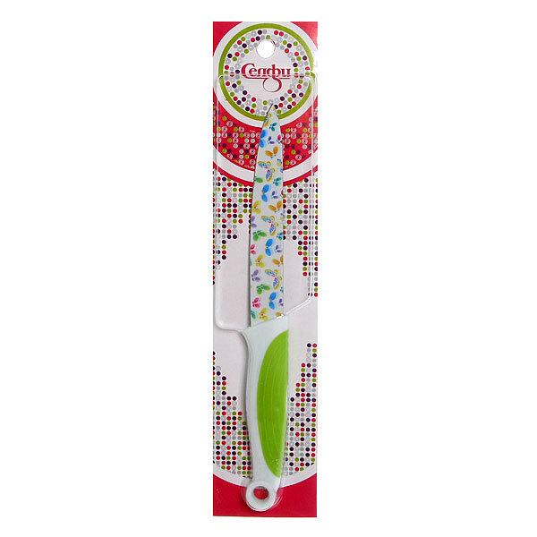Нож кухонный ″Цветы″ овощной 12,5см Селфи купить оптом и в розницу