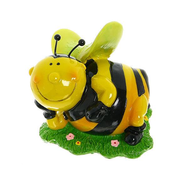 Фигурка из полистоуна ″Веселая пчелка″ на лужайке 13,5см купить оптом и в розницу