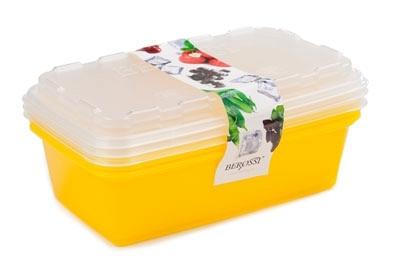"""Набор контейнеров для заморозки """"Zip"""" (лимон)  *12 купить оптом и в розницу"""