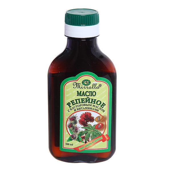 Репейное масло «Mirrolla» с Касторовым маслом и витаминами 100 мл купить оптом и в розницу