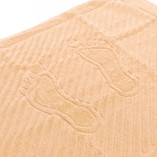 Махровое полотенце для ног 50*70см персиковое купить оптом и в розницу