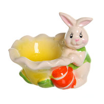 Подставка под яйцо ″Пасхальные кролики″ 8см купить оптом и в розницу