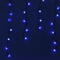 Бахрома светодиодная 3 х 0,3/0,4/0,5м, 96 ламп LED, Синий, 8 реж купить оптом и в розницу