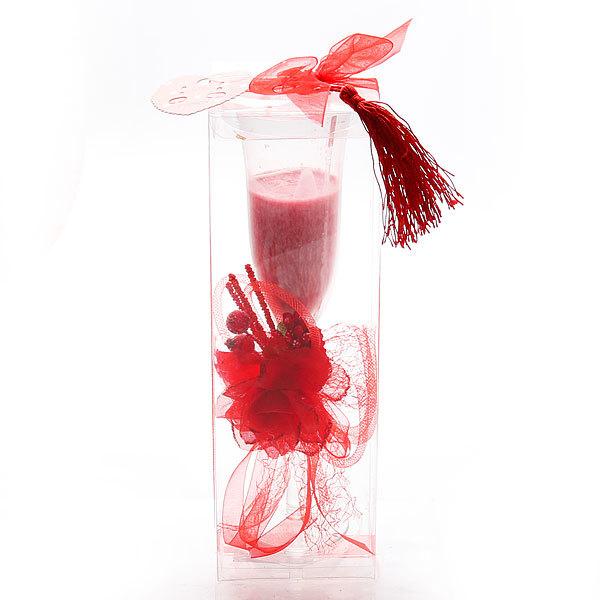 Свеча гелевая ″Цветочная феерия″ 22 см купить оптом и в розницу