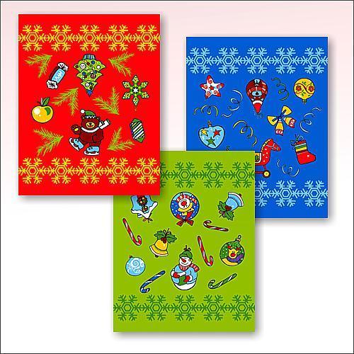 Полотенце вафельное 48*62см ″Новогодние шары″ купить оптом и в розницу
