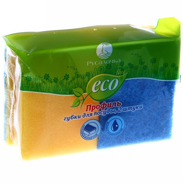 Губка для посуды 2 шт. профильные ECO LINE Русалочка купить оптом и в розницу