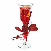 Свеча гелевая ″Сердечная″ 19 см красная 6020 L купить оптом и в розницу