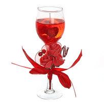 Свеча гелевая ″Сердечная″ 19 см красная 8090 Q купить оптом и в розницу