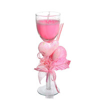 Свеча гелевая ″Сердечная″ 19 см розовая 6590 Q купить оптом и в розницу