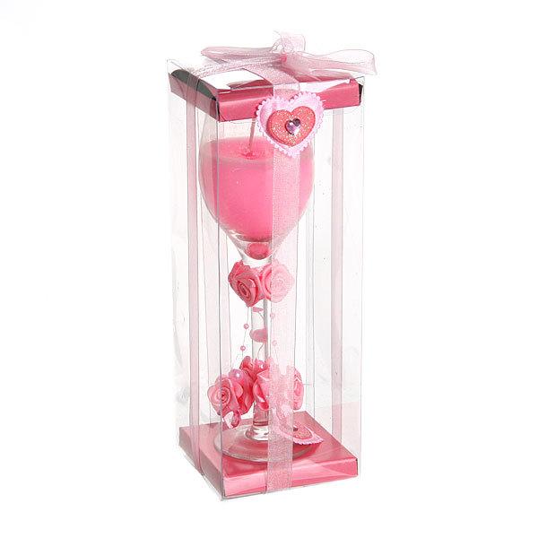 Свеча гелевая ″Сердечная″ 20 см розовая 6690 Q купить оптом и в розницу