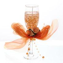Свеча гелевая ″Сердечная″ 19 см оранжевая 8560 B купить оптом и в розницу
