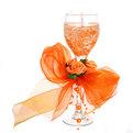 Свеча гелевая ″Сердечная″ 20 см оранжевая 8590 Q купить оптом и в розницу