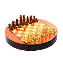 Игра настольная ″Шахматы″ круглая доска, диам.23 см купить оптом и в розницу