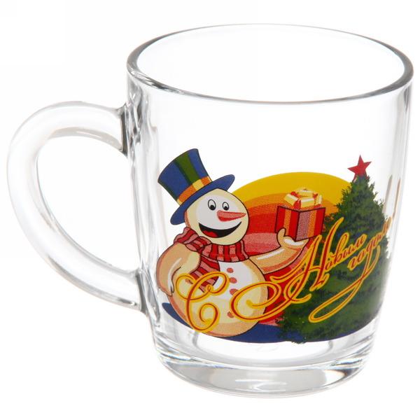 Кружка 350мл ″Снеговик с подарками″ D55531/12 купить оптом и в розницу