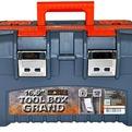 """Ящик для инструментов GRAND SOLID 16,5"""" серо-свинцовый/оранжевый *9 купить оптом и в розницу"""