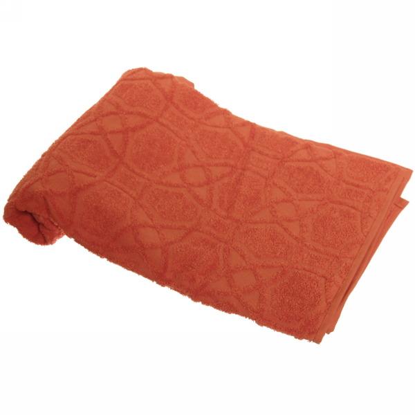 Махровое полотенце 50*100см морковное жаккард ЖК100-2-008-037 купить оптом и в розницу