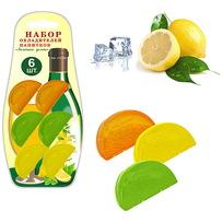 Набор охладителей для напитков 6шт ″Лимонные дольки″ J13-102 купить оптом и в розницу