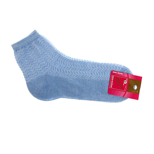 Носки женские Золотая игла, сетка, цвет голубой р. 23 купить оптом и в розницу