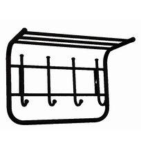 Вешалка с полкой 40 см цвет черный (Арт.ВСП5Ч) купить оптом и в розницу